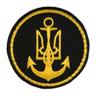 Нашивка ВМС України кругла чорна