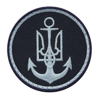 Нашивка ВМС України круглая синяя