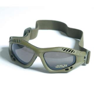 Очки десантные AIRPRO (Дымчатое стекло) (Olive), Mil-Tec Sturm