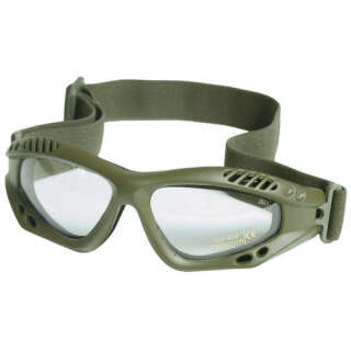 Очки десантные AIRPRO (Прозрачное стекло) (Olive), Mil-Tec Sturm