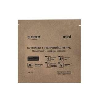 Одноразовая пенная губка Estem MINI с полотенцем, [999] Multi, ESTEM