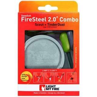 Огниво + щепки в банке Light My Fire - FS Scout 2.0+TinderDust Combo Green (LMF 50593310)