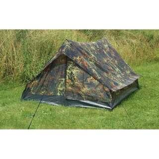 Палатка двухместная Mini Pack Super, [1215] Немецкий камуфляж, Sturm Mil-Tec® Reenactment