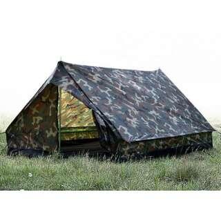 Палатка двухместная Mini Pack Super, [1358] Woodland, Sturm Mil-Tec® Reenactment