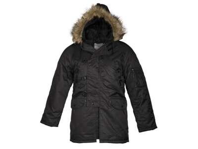 Парка зимняя американская N3B Аляска, [019] Black, Sturm Mil-Tec® Reenactment