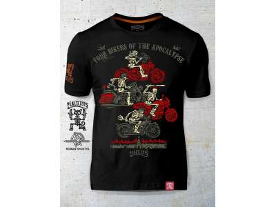 PEKLO.TOYS футболка Байкеры апокалипсиса Black