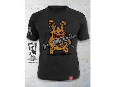 PEKLO.TOYS футболка Пекельний Зайчик з Машингвери Melange Graphite