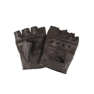 Рукавички байкерські обрізані (Black), Max Fuchs