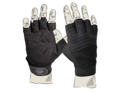 Перчатки HALF FINGER, Black, Helikon-Tex