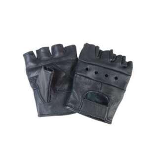 Перчатки кожаные без пальцев, [019] Black, Sturm Mil-Tec® Reenactment