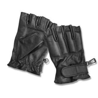 Рукавички тактичні шкіряні без пальців DEFENDER, [019] Black, Sturm Mil-Tec®