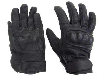Перчатки Mil-Tec кожаные тактические (Black), Sturm Mil-Tec