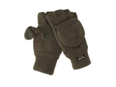 В'язані рукавички-рукавиці з утеплювачем Thinsulatе olive, Mil-tec