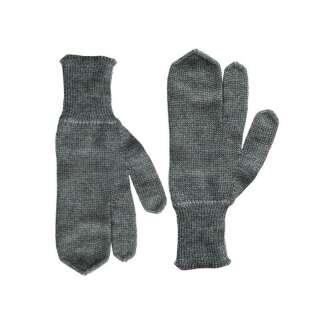 Перчатки зимние швейцарские с тремя пальцами SWISS WOOL GLOVES 3-FINGERS, [029] Grey, Sturm Mil-Tec® Reenactment