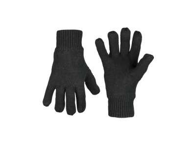 Перчатки зимние вязаные Thinsulate, [019] Black, Sturm Mil-Tec® Reenactment