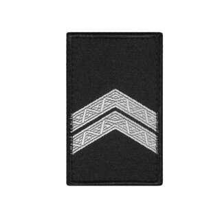 Погони Капрал Поліції (пара) на липучці чорні 8х5см