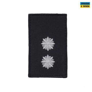 Погоны Лейтенант Полиции (пара) на липучке черные 8х5см