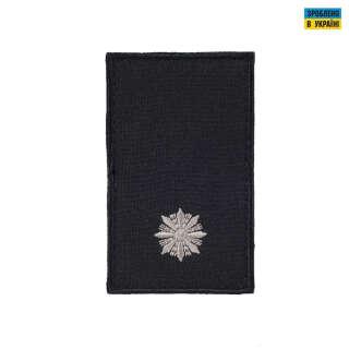 Погони Молодший лейтенант Поліції (пара) на липучці чорні 10х5см