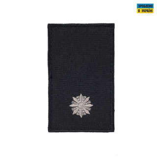 Погони Молодший лейтенант Поліції (пара) на липучці чорні 8х5см