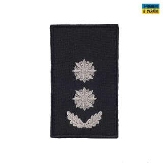 Погони Підполковник Поліції (пара) на липучці чорні 10х5см