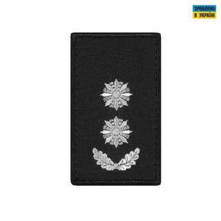 Погони Підполковник Поліції (пара) на липучці чорні 8х5см