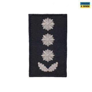 Погони Полковник Поліції (пара) на липучці чорні 10х5см
