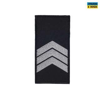 Погони Сержант Поліції (пара) на липучці чорні 10х5см