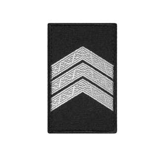Погони Сержант Поліції (пара) на липучці чорні 8х5см
