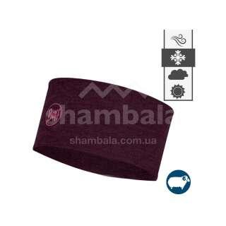 Пов'язка на голову Buff Midweight Wool Headband, Solid Deep Purple (BU 118173.603.10.00)