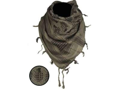 Повязка универсальная Шемаг Ананас (Арафатка), [1266] Оливковый/чёрный, Sturm Mil-Tec® Reenactment