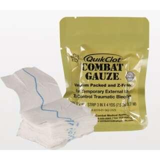 QuikClot кровоостанавливающий бинт Combat Gauze Z-Fold 7,5см/3,7м (просроченный)