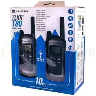 Рація Motorola TLKR T80 (0.5W, PMR446, 446 MHz, до 8 км, 8 каналів, 4xAAA), комплект 2шт