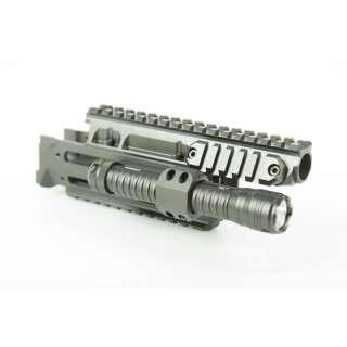 Рейкова система + тримач для ліхтаря для Сайга/Вулкан-Т/АКМС-МФ (АК) і карабінів на їх базі, [999] Multi, S.W.A.T. ARMS®