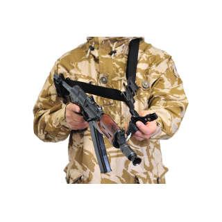 Ремень оружейный автоматный (трёхточечный) (Black), A-line®