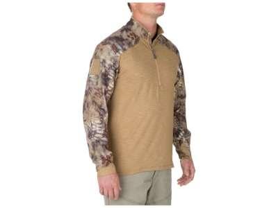 Рубашка боевая 5.11 Rapid Half Zip, [120] Coyote, 5.11