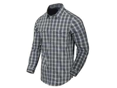 Рубашка Covert Concealed Carry с д. рукавами, Foggy Grey Plaid, Helikon-Tex®