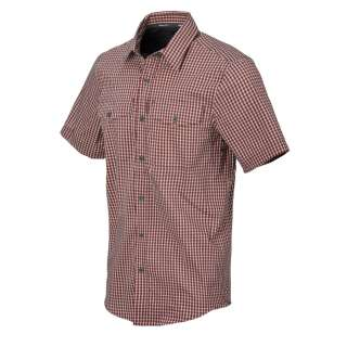 Рубашка Covert Concealed Carry с к. рукавами, Dirt Red Checkered, Helikon-Tex®