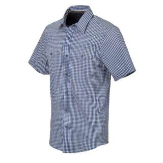 Сорочка Covert Concealed Carry з к. Рукавами, Royal Blue Checkered (C4), Helikon-Tex