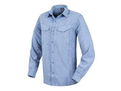 Рубашка DEFENDER Mk2 Gentleman с д/рукавами, Melange Blue, Helikon-Tex