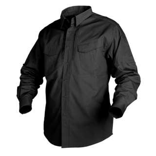 Сорочка DEFENDER з д/рукавами - Canvas (200g/m²), Black, Helikon-Tex
