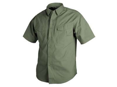 Рубашка DEFENDER с к/рукавами - Canvas (170g/m²), Olive Green, Helikon-Tex