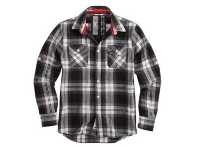 Рубашка клетчатая SURPLUS LUMBERJACK SHIRT, [019] Black, Surplus Raw Vintage®