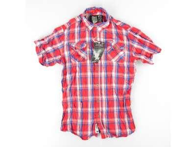 Рубашка клетчатая SURPLUS TROOPER CHECK SHIRT 1/2, [1283] Красный, Surplus Raw Vintage®