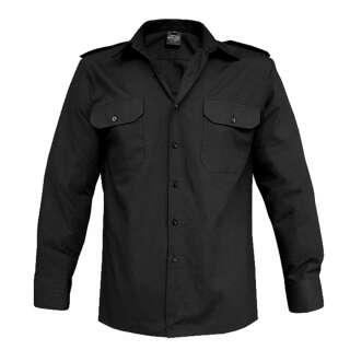 Сорочка MIL-TEC з д/рукавами, Black, Mil-tec