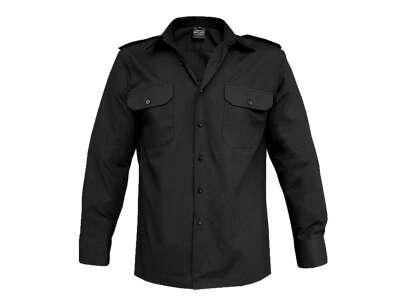 Рубашка MIL-TEC с д/рукавами, Black, Mil-tec