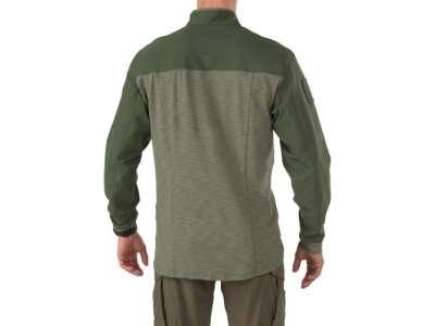 Рубашка тактическая под бронежилет 5.11 RAPID RESPONSE QUARTER ZIP, [190] TDU Green, 5.11