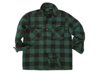 Сорочка в клітку - Flannel, Black/Green, Mil-tec