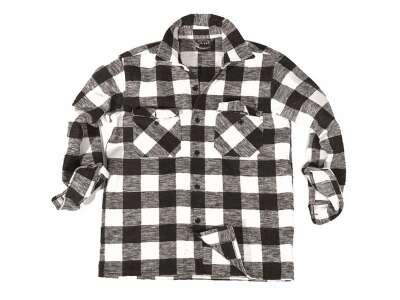 Сорочка в клітку - Flannel, Black/Whate, Mil-tec
