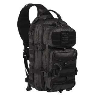 Рюкзак однолямочный TACTICAL BLACK ONE STRAP ASSAULT PACK LARGE, [019] Black, Sturm Mil-Tec® Reenactment