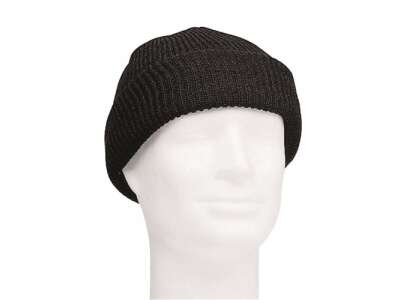 Шапка патрульна вовняна US WATCH CAP (Black), Mil-tec